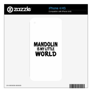 MANDOLIN IS MY LITTLE WORLD DECAL FOR THE iPhone 4S