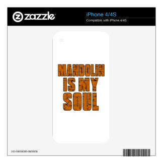 MANDOLIN IS MY SOUL DECALS FOR THE iPhone 4S