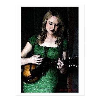 Mandolin Maiden Postcard