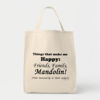 Mandolin Makes Me Happy Tote Bag