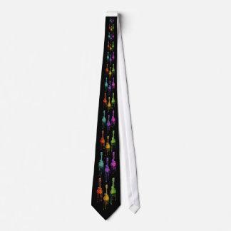 Mandolin Melting in Rainbow Colors Neck Tie