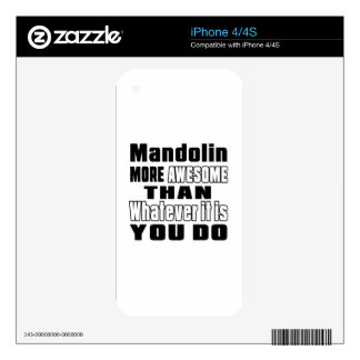 Mandolin more awesome whatever you do skin for the iPhone 4