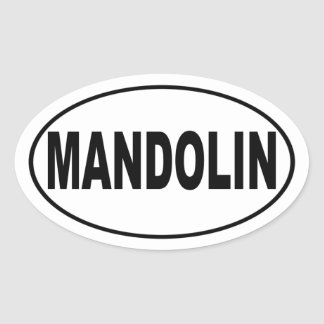 Mandolin Music Lover Oval Sticker