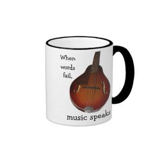 Mandolin Music Speaks Mug