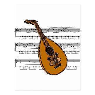 Mandolin musical 15 B Postcard