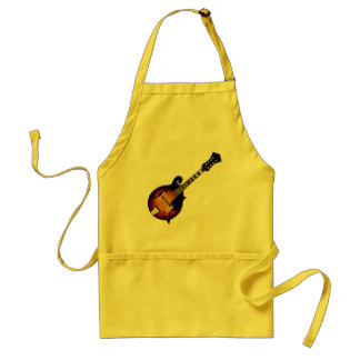 Mandolin Mustard Adult Apron