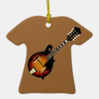 Mandolin Mustard Double-Sided T-Shirt Ceramic Christmas Ornament