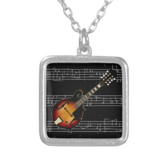 Mandolin Mustard Silver Plated Necklace