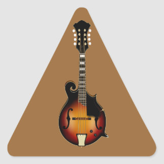 Mandolin Mustard Triangle Sticker