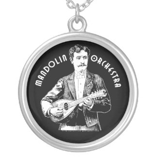 Mandolin Orchestra Silver Plated Necklace