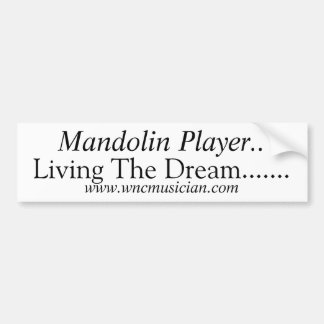 Mandolin Player Sticker Bumper Sticker