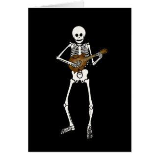 Mandolin Playing Skeleton Card