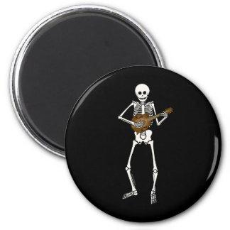 Mandolin Playing Skeleton Refrigerator Magnet