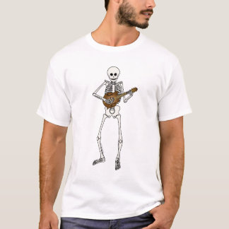 Mandolin Playing Skeleton T-Shirt