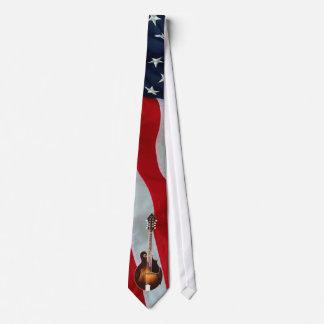 mANDOLIN -TIE-AMERICAN FLAG Neck Tie