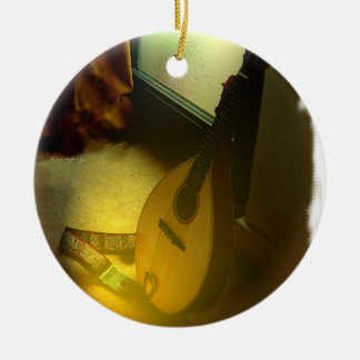Mandolin Tree Ceramic Ornament