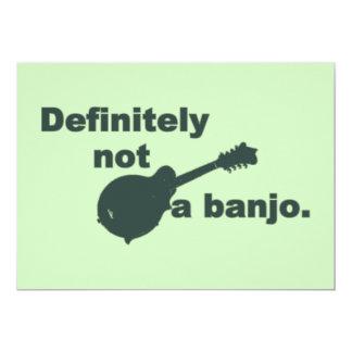 """Mandolina -- Definitivamente no un banjo Invitación 5"""" X 7"""""""