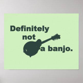 Mandolina -- Definitivamente no un banjo Póster