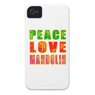 Mandolina del amor de la paz iPhone 4 Case-Mate cárcasa