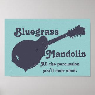 Mandolina del Bluegrass - toda la percusión que us Posters