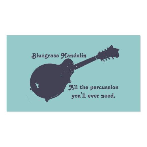 Mandolina del Bluegrass - toda la percusión que us Tarjetas De Visita
