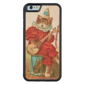 Mandolina del gato del músico del bufón del payaso funda de iPhone 6 bumper arce