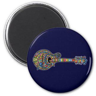 Mandolina del mosaico imán redondo 5 cm