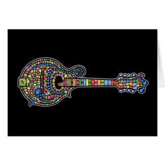 Mandolina del mosaico tarjeta de felicitación