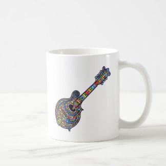 Mandolina del mosaico taza de café