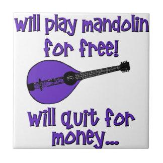 mandolina divertida azulejo cuadrado pequeño