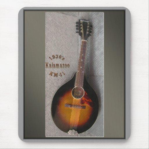 mandolina Mousepad de Kalamazoo de los años 30 Alfombrillas De Ratones