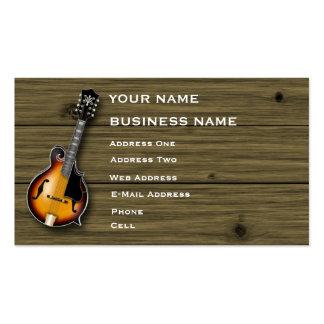 Mandolina - tarjeta de la industria musical tarjetas de visita