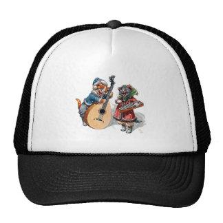 Mandolina y xilófono lindos del juego de los gatos gorra