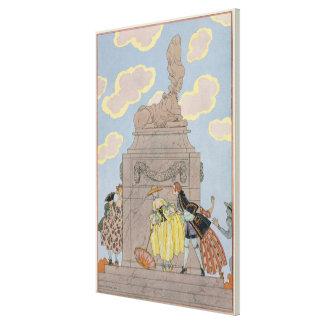 """Mandoline, ejemplo para los """"Fetes Galantes"""" por e Lona Envuelta Para Galerías"""