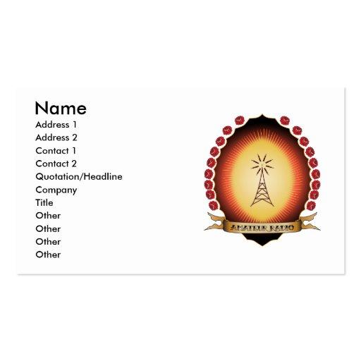 Mandorla de radio aficionado tarjeta personal