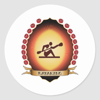 Mandorla Kayaking Pegatina Redonda