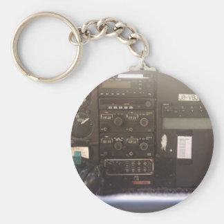 Mandos de vuelo en el pequeño avión de reacción llavero