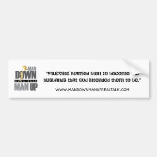 ManDownManUp_logo-01 Bumper Sticker