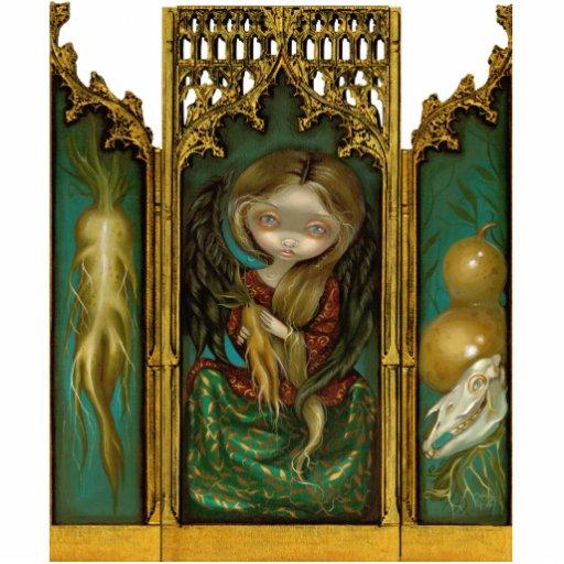 Mandragora gothic mandrake angel Triptych Acrylic Cut Out