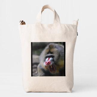 Mandrill enojado bolsa de lona duck