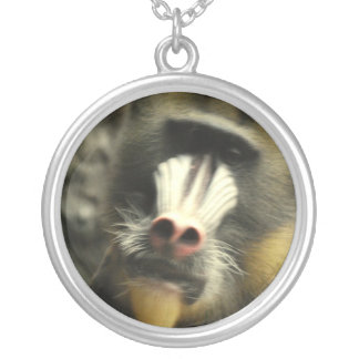 Mandrill Face Necklace