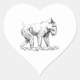 Mandrill Heart Sticker