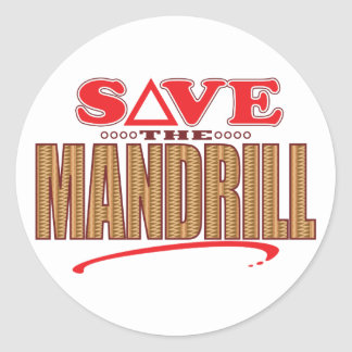 Mandrill Save Classic Round Sticker