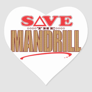Mandrill Save Heart Sticker