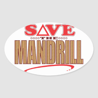Mandrill Save Oval Sticker