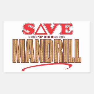 Mandrill Save Rectangular Sticker