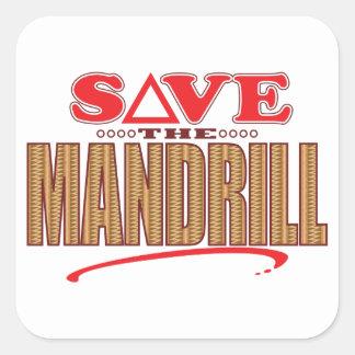 Mandrill Save Square Sticker