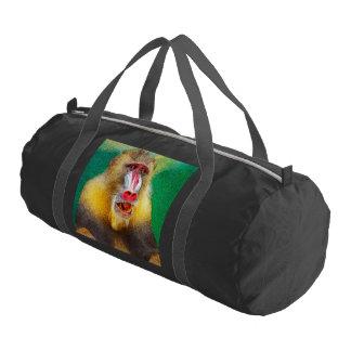 mandrill, versión pintada bolsa de deporte