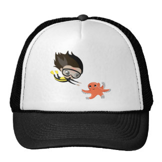 Mandy and Bubbles the Octopus Trucker Hat