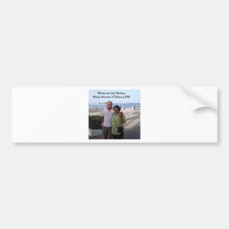 Mandy and John Weddding Souvenirs Bumper Sticker